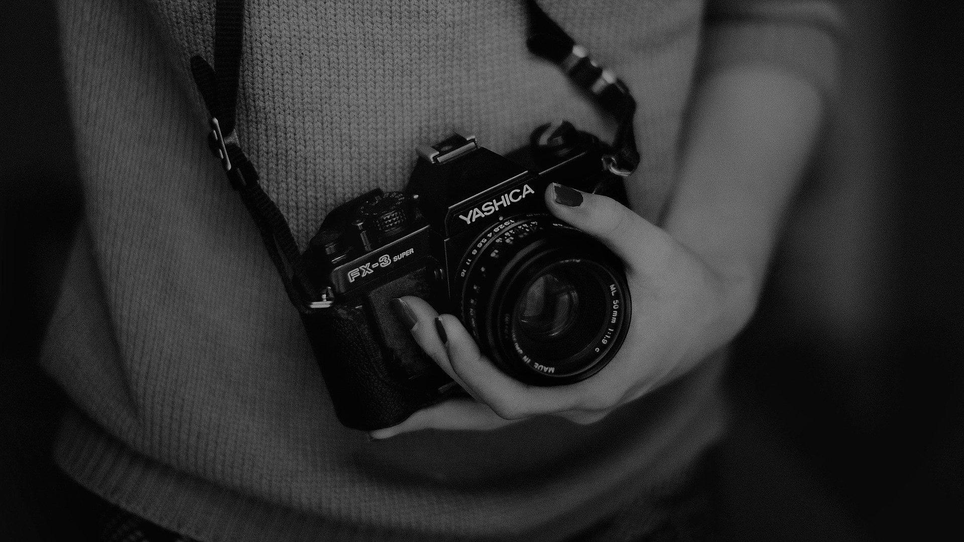 Un appareil photo professionnel